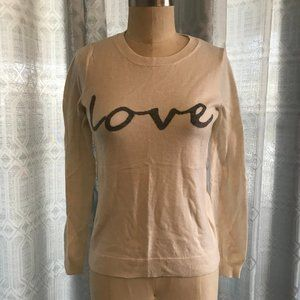 "GAP ""LOVE"" Sweater Size XS"